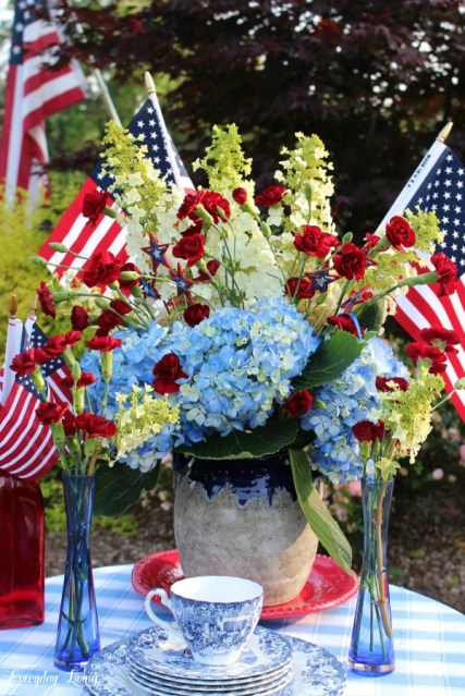 patriotic table centerpiece
