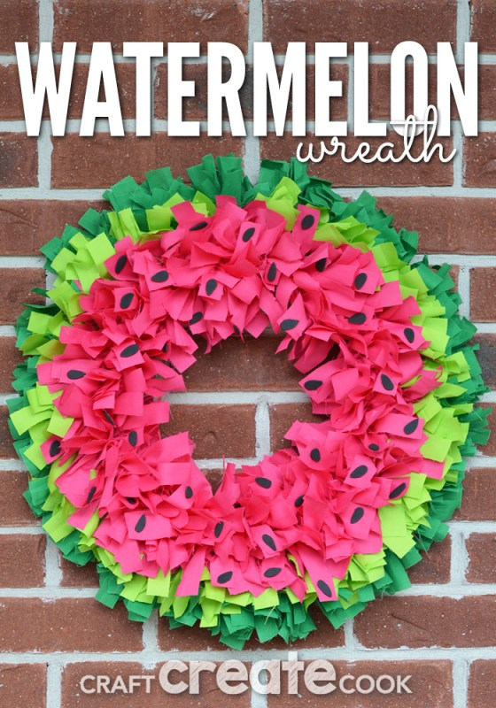diy watermelon wreath