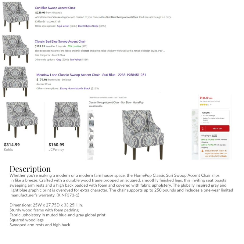 accent chair prices