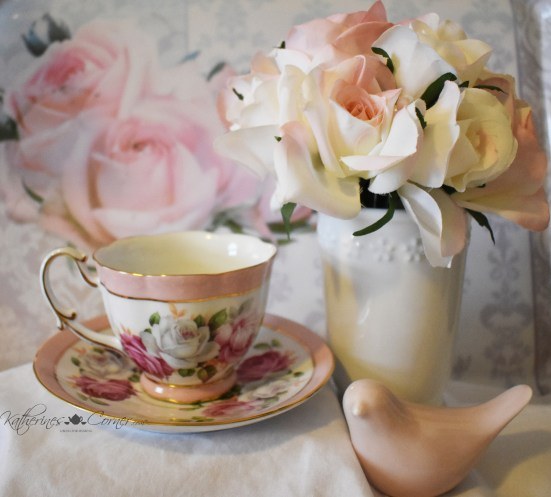 tea and roses pink teacup 1