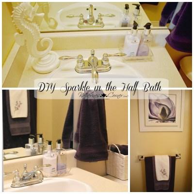 Adding DIY Sparkle to the Half Bath