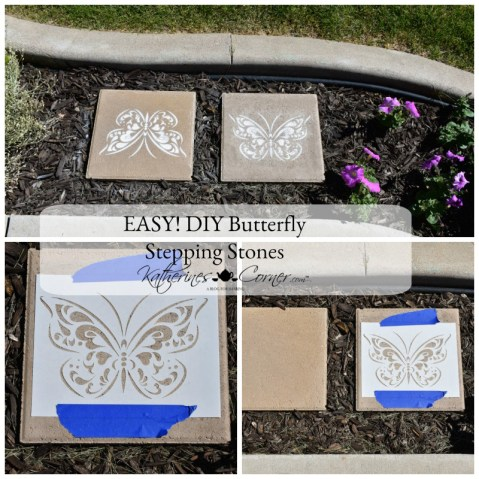 DIY Stencil Revolution Butterfly Stepping Stones