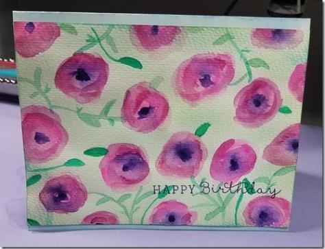 diy poppy greeting card