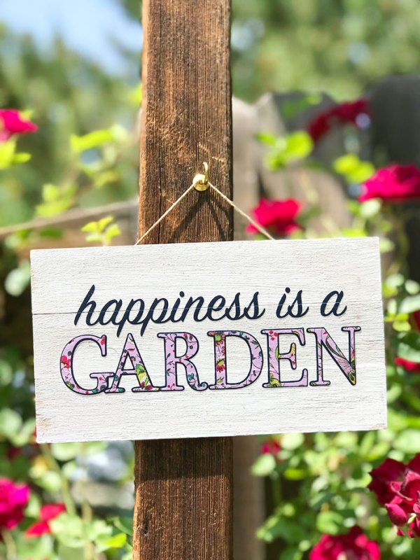 diy cute garden sign