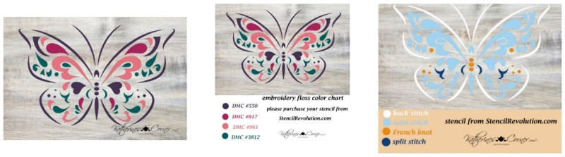 print pdf butterfly embroidery