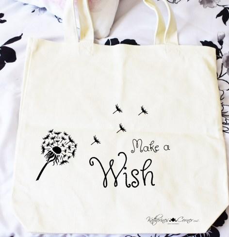 DIY make a wish tote bag