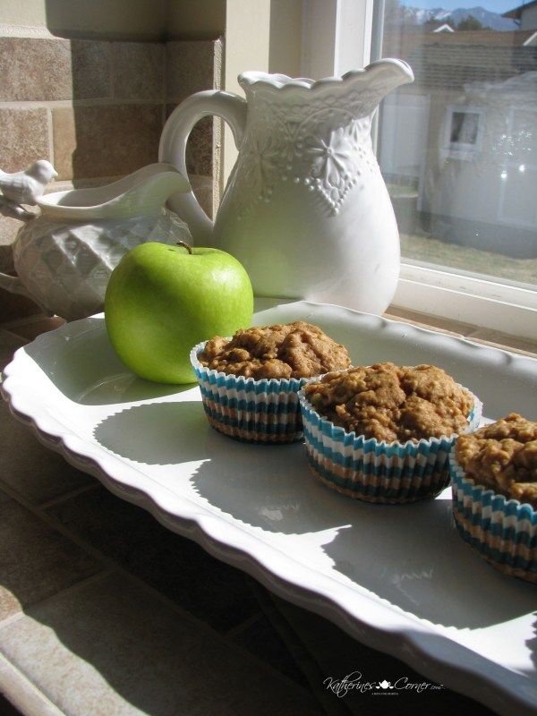 cooling muffins on the new windowsill
