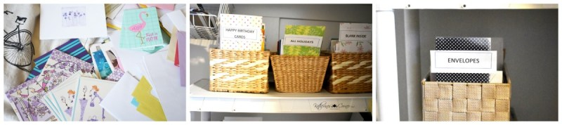 simple greeting card organization