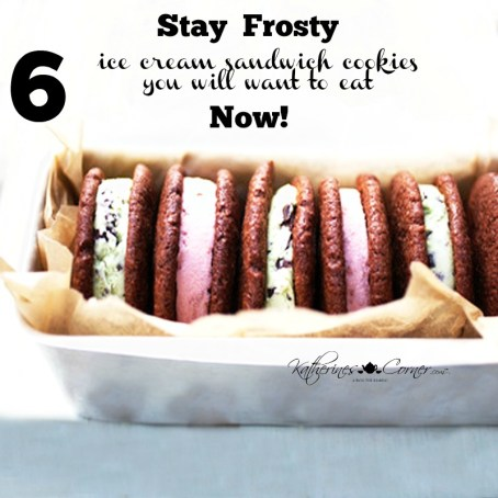 Stay Frosty 6 Ice Cream Cookie Sandwiches to make Now