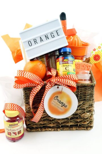 back to school health and wellness gift basket