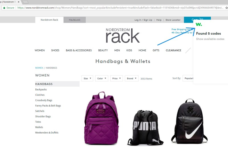nordstrom backpack discount coupons with wikibuy
