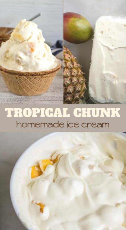 tropical no churn ice cream