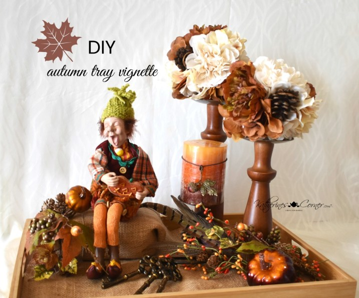 diy autumn tray vignette happy autumn sprite katherines corner
