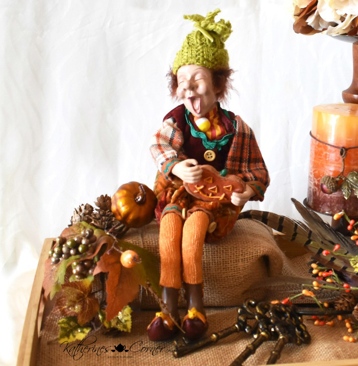 diy autumn tray vignette happy fall katherines corner