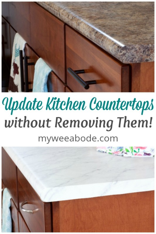 diy update kitchen countertops without removing them