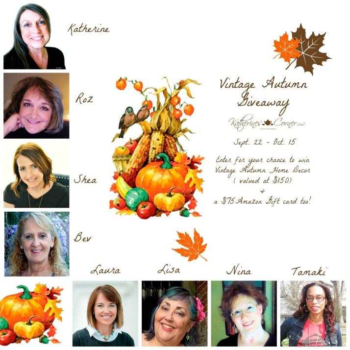 vintage autumn giveaway hostesses