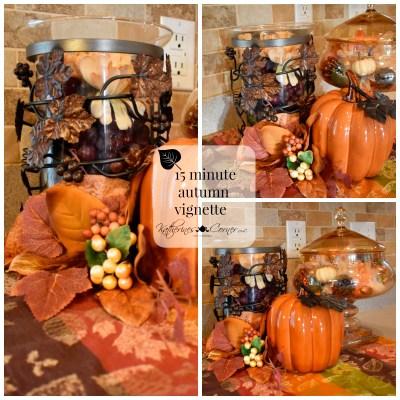 DIY 15 minute autumn vignette