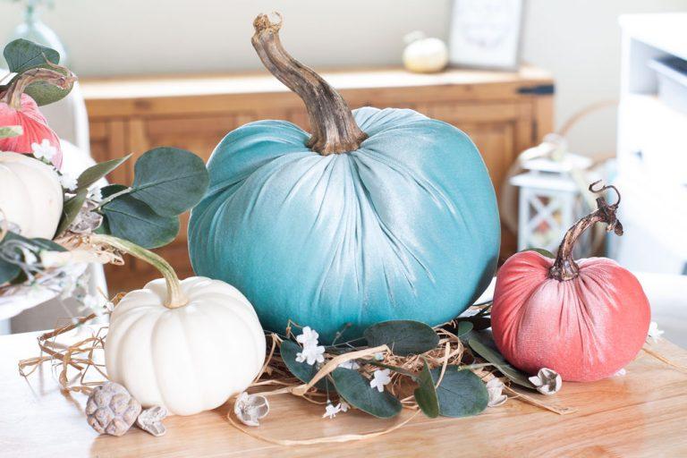 diy velvet pumpkins