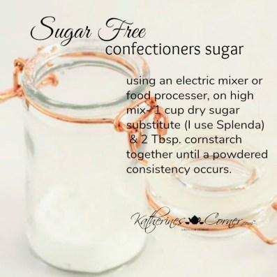 sugar free powdered sugar recipe