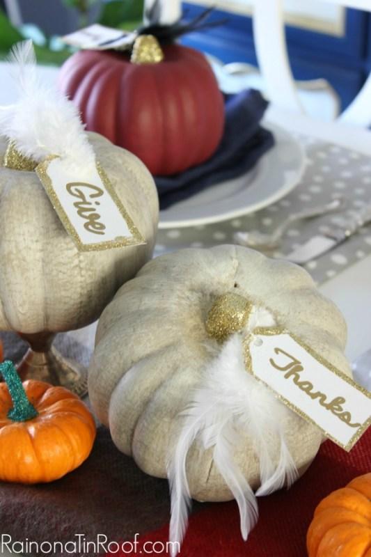 party pumpkin place cards diy