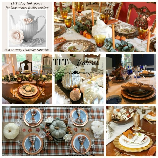 Thanksgiving table and tft link party