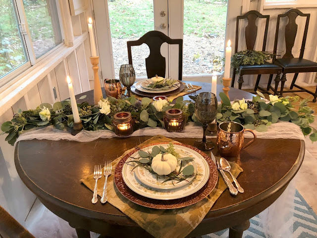 how to use eucalyptus on your thanksgiving table