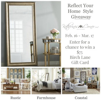 enter for a chance to win $75 birch lane gift card