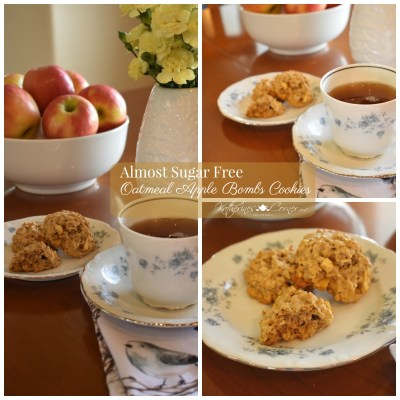 Almost sugar free Oatmeal Apple Bombs Cookies
