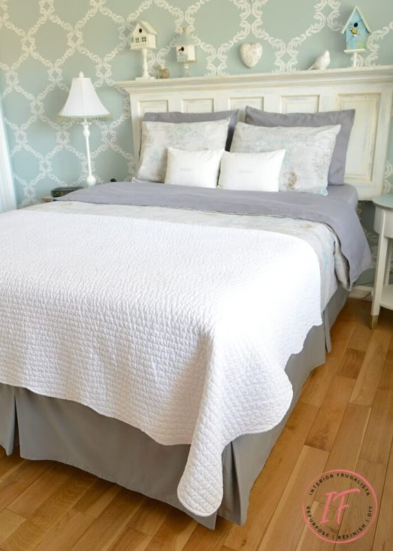 DIY dust ruffle bed skirt for reclining bed