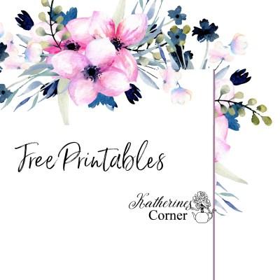 floral note free printable katherines corner