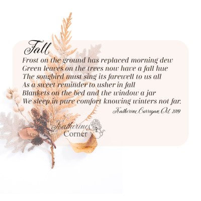 ode to fall short poem by katherine corrigan