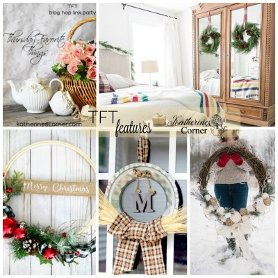 holiday wreaths and the TFT blog hop link party