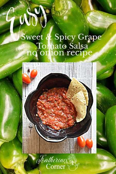 sweet and spicy grape tomato salsa