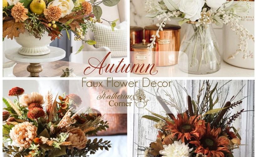 autumn faux flower decor
