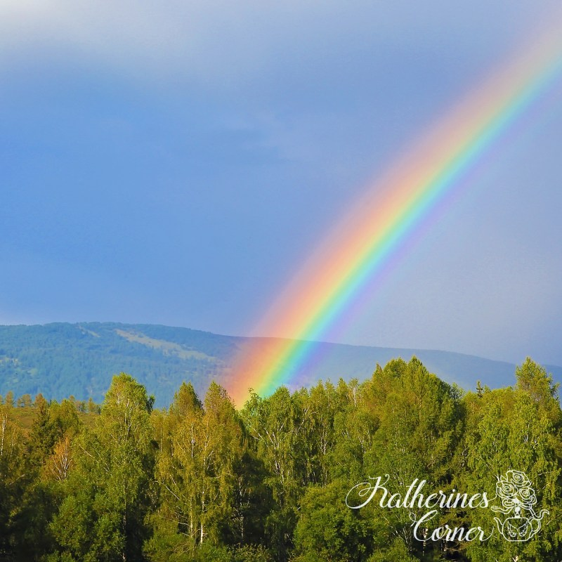 rainbow and angels