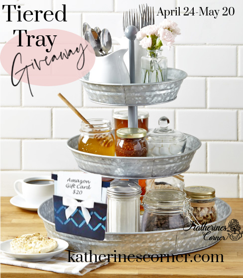 tiered tray giveaway