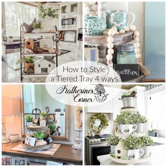 how to style tiered trays 4 ways