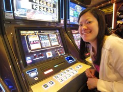 And at the end of the night, I had to try the slots. Never done it before and I lost $11, but glad I got to gamble (a little) at the MGM Grand in Las Vegas!