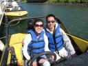 You get to drive your own two-seater speed boat.