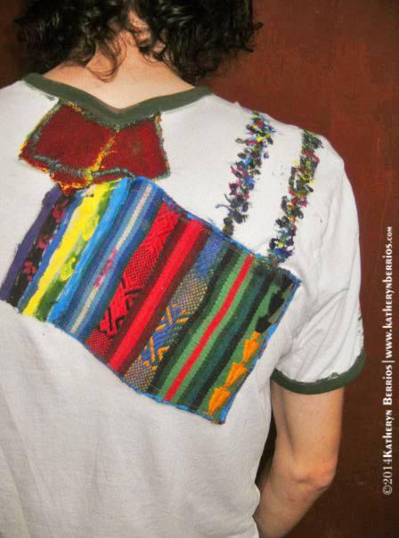T-shirt Hilandero: Algodón, acriléx en tela, bordes en color, pintado a mano. Reflejo de la creación: