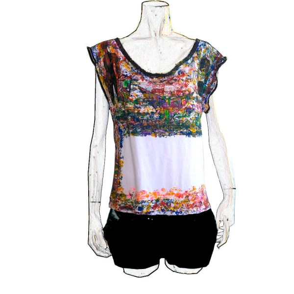 T-shirt Cascada de Color Niveles