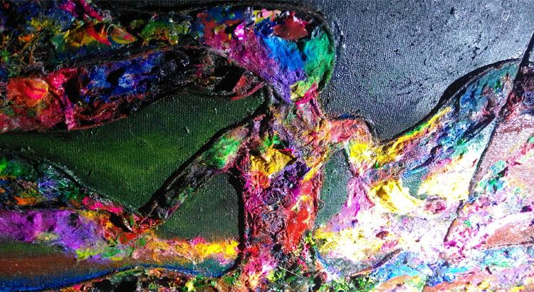 Obra de Arte que representa la absorción de energía en sus niveles.