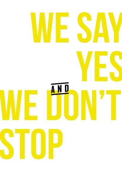 we say