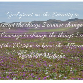 Morning Motivation, The Serenity Prayer