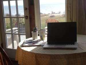 My writing spot. This is where you'll find me for the better part of my day.
