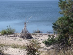 I wonder - who built this tiny teepee?