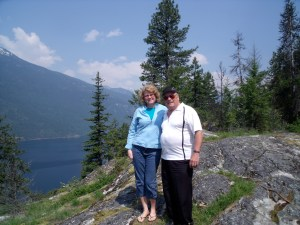 Dad and me visiting near Nakusp.