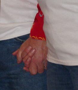 Still holding hands, too.
