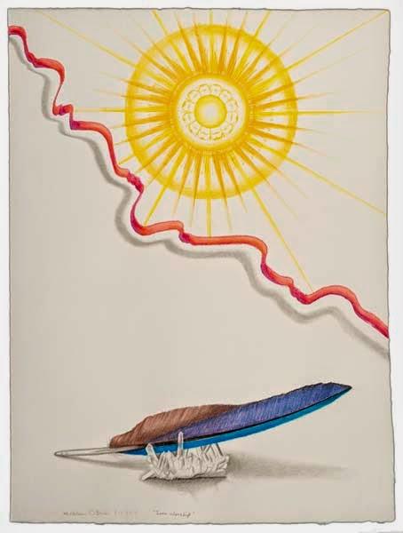 Sun Worship, a drawing