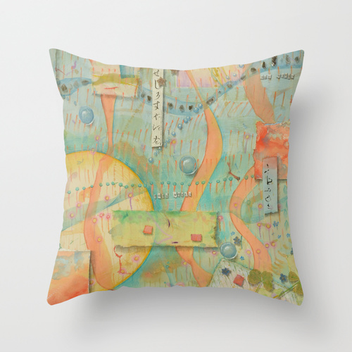 3 Worlds pillow from Society6